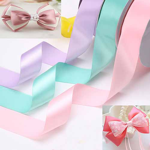 2.5cm Double faced Colour Ribbons