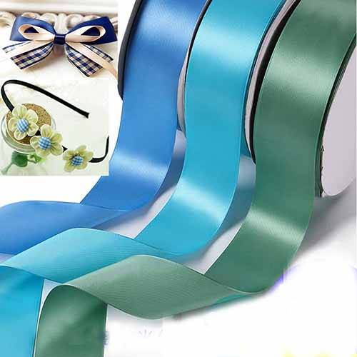 3.8cm Double faced Colour Ribbons