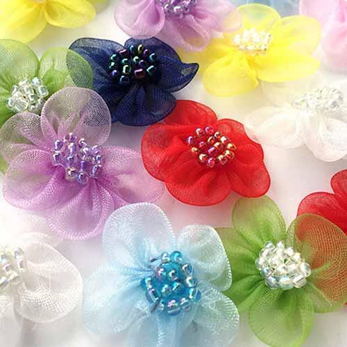 Mesh flowers