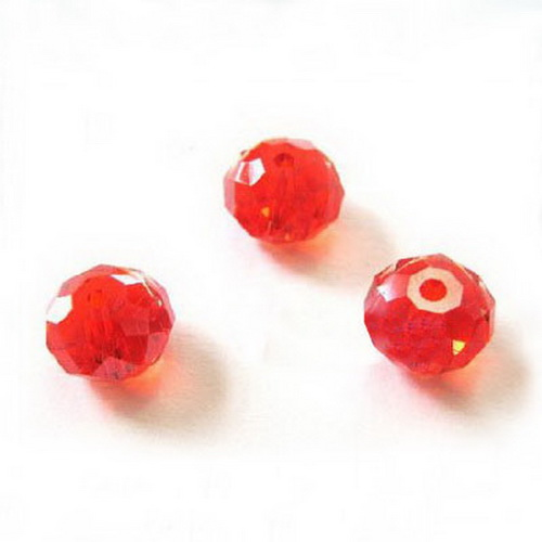 Acrylic beads, Faceted Discs Beads