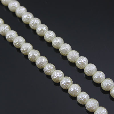 Not smooth Glass Imitation pearls