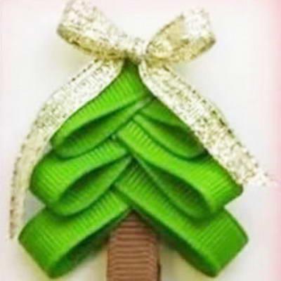 Christmas tree ribbon embellishment