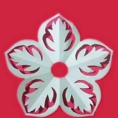 Paper cut chrysanthemum