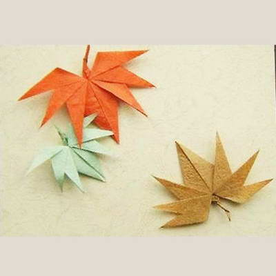 Origami leaves