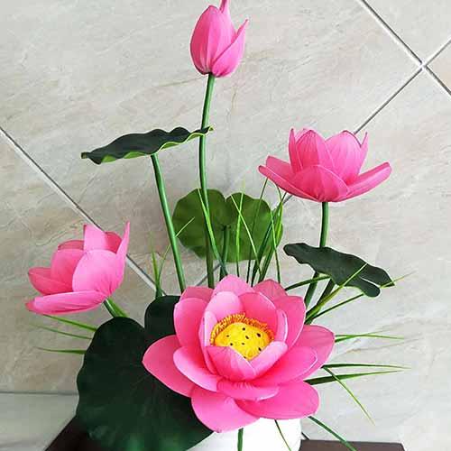 Pink lotus, nylon flowers