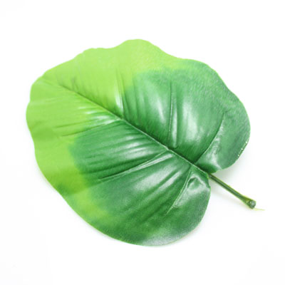 Sunflower leaf, Plastic, green, 14.5cm  x21cm, 5 pieces