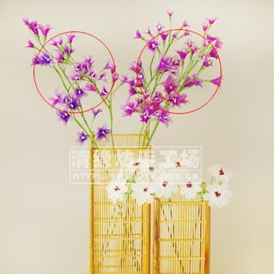 Mesh Nylon flower making kit, Magenta, Light purple, 15 flowers, 4cm (diameter of flowers), Lisianthus misty