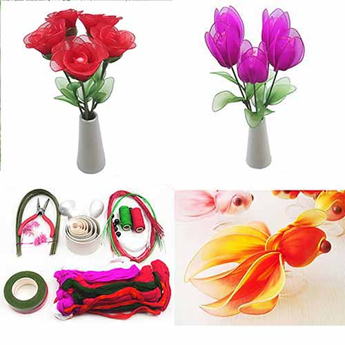 Beginners nylon flower making kit 3