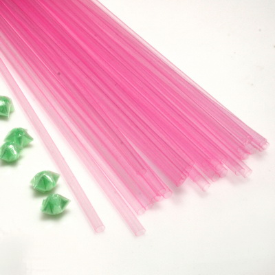 Luminous Lucky star plastic straws, Plastic, pink, 36cm x 5mm, 30 pieces (approximate)