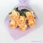 Kawasaki Rose bouquets, orange, 6 flowers