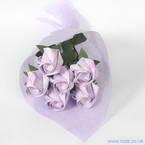 Kawasaki Rose bouquets, Lavendar, 6 flowers