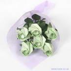 Kawasaki Rose bouquets, green, 6 flowers