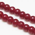 Beads, Glass, Burgandy , Round shape, Diameter 6mm, 20 Beads