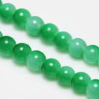 Beads, Glass, Green , Light green , Round shape, Diameter 6mm, 20 Beads