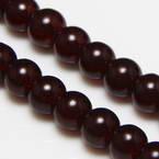 Beads, Glass, Burgandy , Round shape, Diameter 8mm, 10 Beads