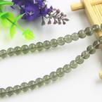 Beads, Imitation Crystal beads, Glass, Grey , Round shape, Diameter 6mm, 17 Beads