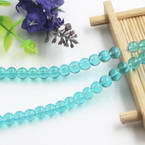 Beads, Imitation Crystal beads, Glass, Turquoise colour , Round shape, Diameter 6mm, 17 Beads