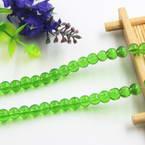 Beads, Imitation Crystal beads, Glass, Light green , Round shape, Diameter 6mm, 17 Beads