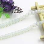 Beads, Imitation Crystal beads, Glass, White , Round shape, Diameter 6mm, 17 Beads