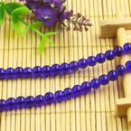 Beads, Imitation Crystal beads, Glass, Dark blue , Round shape, Diameter 6mm, 17 Beads