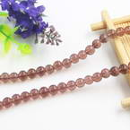 Beads, Imitation Crystal beads, Glass, Purple , Round shape, Diameter 6mm, 17 Beads