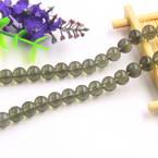 Beads, Imitation Crystal beads, Glass, Grey , Round shape, Diameter 8mm, 10 Beads