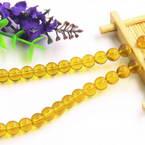 Beads, Imitation Crystal beads, Glass, Burnt orange , Round shape, Diameter 8mm, 10 Beads