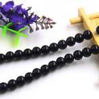 Beads, Imitation Crystal beads, Glass, Black , Round shape, Diameter 8mm, 10 Beads