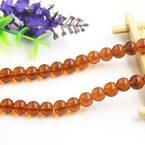Beads, Imitation Crystal beads, Glass, Brown , Round shape, Diameter 8mm, 10 Beads