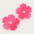 Small fabric flowers, Satin, Magenta, 2cm x 2cm, 20  pieces