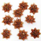 Small fabric flowers, Organza, brown, 2.8cm x 2.8cm (approximate), 10 pieces