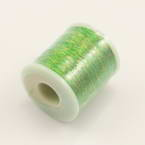 Metallic threads, Rayon, Lime green, 200m