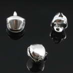 Decorative bells, High quality metal alloy, Silver colour, Diameter 6mm, 50