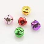 Decorative bells, High quality metal alloy, Assorted colours, Diameter 8mm, 10