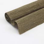 Thick Crepe paper, brown, 40cm x 100cm, 1 sheet