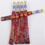 Baguettes chinoises, Bambou, Couleurs naturelles, 24cm, 5 paires