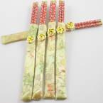 Baguettes chinoises, Bambou, marron, 24cm, 5 paires