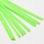 Felt covered wire, Metal and Polyester, Bright green, 29cm x 0.6cm, 10 Felt covered wires