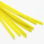 Felt covered wire, Metal and Polyester, Yellow, 29cm x 0.6cm, 10 Felt covered wires