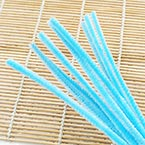 Felt covered wire, Metal and Polyester, blue, 29cm x 0.6cm, 10 Felt covered wires