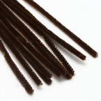 Felt covered wire, Metal and Polyester, brown, 29cm x 0.6cm, 10 Felt covered wires