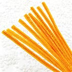 Felt covered wire, Metal and Polyester, orange, 10 Felt covered wires, 30cm x 0.6cm