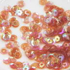 Sequins, Burgandy, Diameter 5mm, 650 pieces, 5g, Faceted Discs, Sequins are shiny