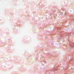 Sequins, pink, Diameter 5mm, 650 pieces, 5g, Faceted Discs, Sequins are shiny