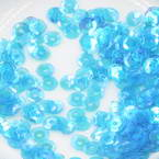 Sequins, Royal blue, Diameter 5mm, 650 pieces, 5g, Faceted Discs, Sequins are NOT shiny
