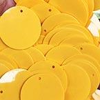 Sequins, orange, Diameter 30mm, 43 pieces, 10g, Disc shape, Sequins are NOT shiny