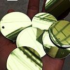 Sequins, Olive, Diameter 40mm, 22 pieces, 10g, Disc shape, Sequins are shiny