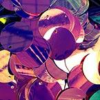 Sequins, purple, Diameter 50mm, 13 pieces, 10g, Disc shape, Sequins are shiny