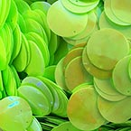 Sequins, Bright green, Diameter 50mm, 12 pieces, 10g, Disc shape, Sequins are shiny