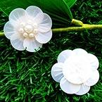 Sequin flower, white, 1 Sequin flower, 3cm
